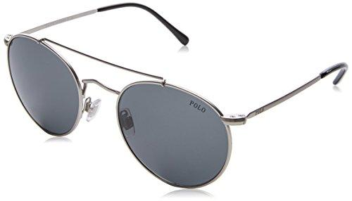 Polo ralph lauren 0ph3114 932687, occhiali da sole uomo, semigrey, 51
