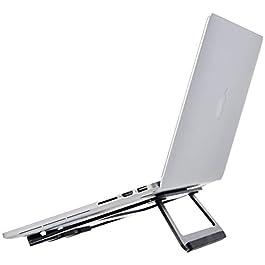 """AmazonBasics – Supporto richiudibile in alluminio per PC portatili con display fino a 15"""", Nero"""