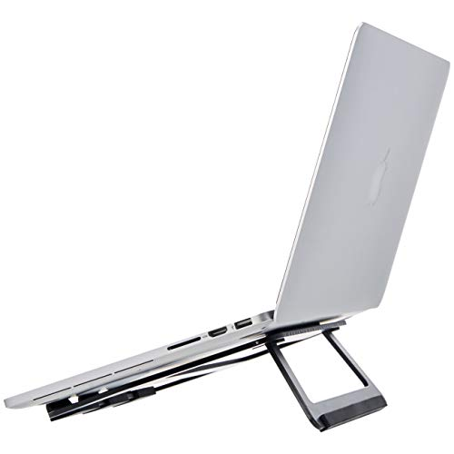 """AmazonBasics Support en aluminium pliant pour ordinateurs portables jusqu'à 38cm (15""""), Noir"""