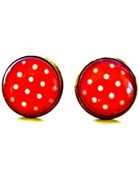 Ohrringe - Erdbeersorbet Punkte