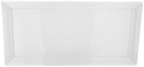 Judge Plat Rectangulaire, 37 x 37 x 18 cm, Blanc