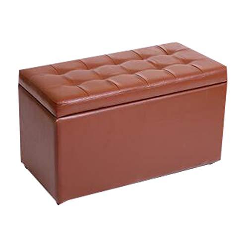 Sgabello Pieghevole-Scatola dei Giocattoli e poggiapiedi Famiglia 30cm * 30cm * 60cm (Colore : Brown)