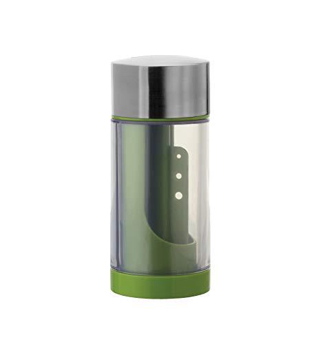Microplane Molinillo de Hierbas 2 en 1, Acero Inoxidable, Verde, 6.35x6.35x15.2 cm