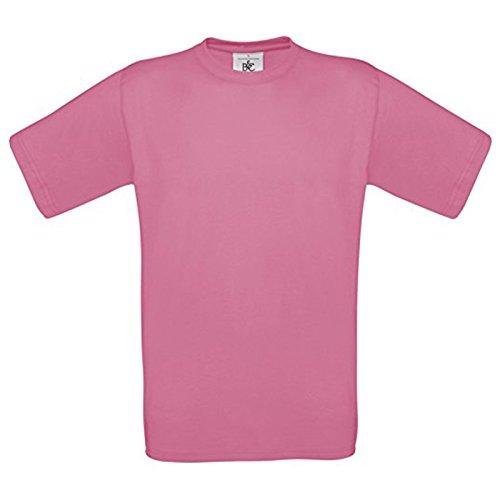 B&C Collection Herren Modern T-Shirt Pixel Pink