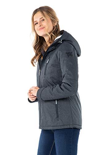 Sublevel Damen Winter-Jacke mit Fell Kapuze Sportlich Blue M