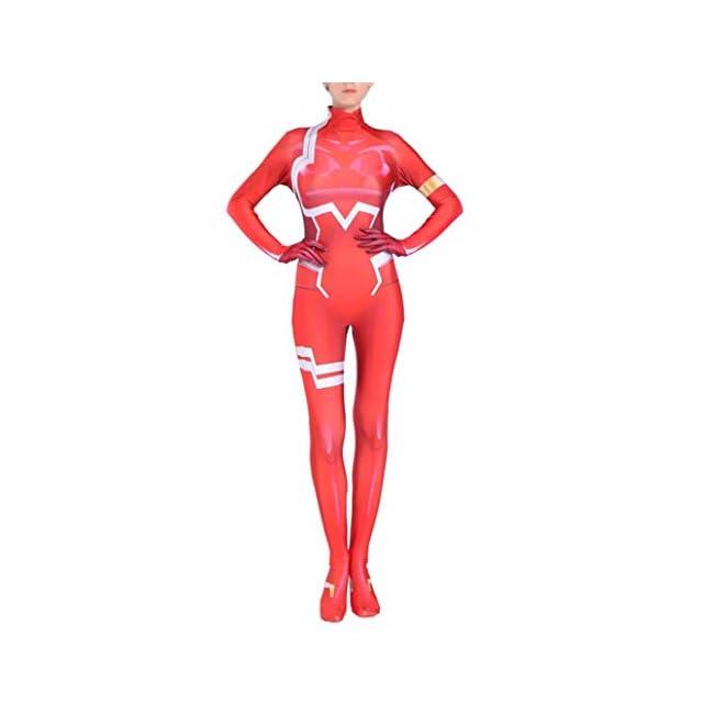 Yewei Japanese Anime FRANX 002 Kost/üm Overall Damen Kind Comic Cosplay Bodysuit