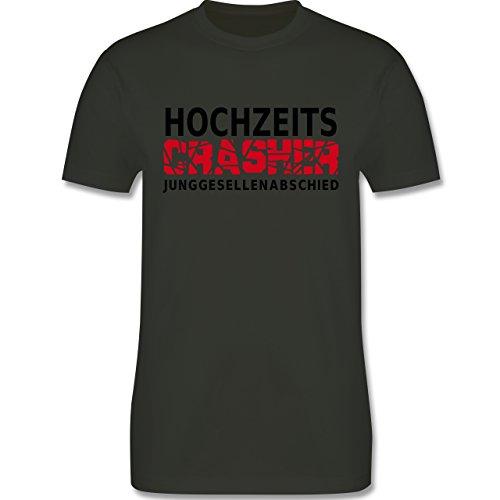 JGA Junggesellenabschied - Hochzeit Crasher - Herren Premium T-Shirt Army Grün