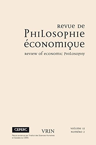 Varia (Revue de philosophie économique 15 (2014)/2) par Collectif