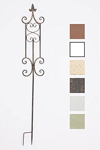CLP Pflanzen-Rankstab Azula aus Eisen I Rankhilfe mit Einer Höhe von: 123 cm I Rankstange für Kletterpflanzen I erhältlich Bronze