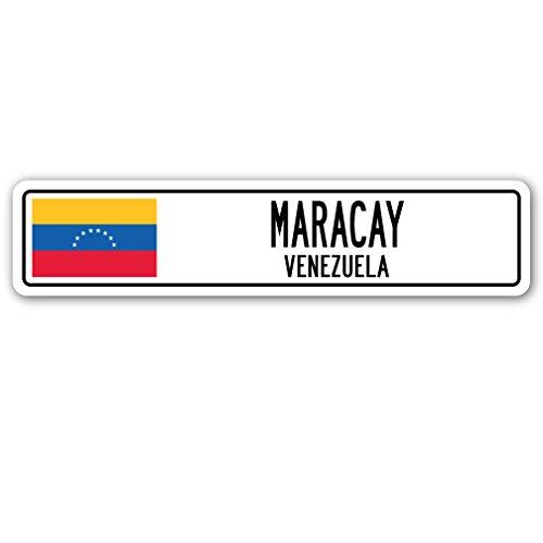 Maracay, Venezuela Straßenschild Venezolanischen Flagge City Country Road Wand Geschenk