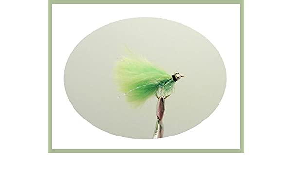 Fishing flies Size 10 6 Pack White green Fritz MINI Cats Whiskers Trout Flies