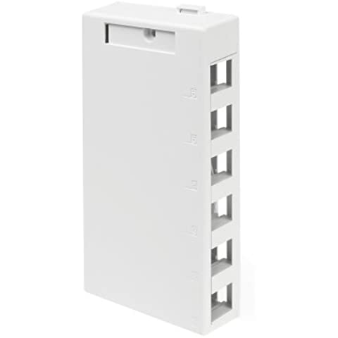 Leviton 41089-6WP QuickPort Surface Mount Housing, 6-Port, White by