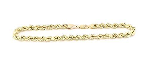 Or jaune 14cts/750Cordon Bracelet 3mm de large