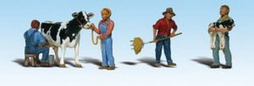 woodland-scenics-ho-scale-scenic-accents-figures-people-dairy-farmers-cow-5-by-woodland-scenics
