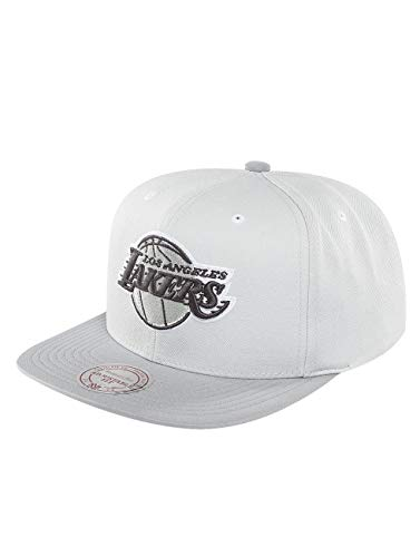 Mitchell   Ness Mujeres Gorras   Gorra Snapback Grey 2 Tone Plus Series La  Lakers 98a0273d9ce