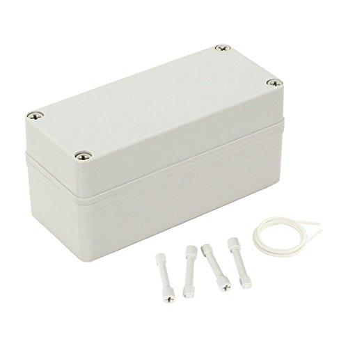 TOOGOO 7,1 pouces x3,2 pouces x3,4 pouces (180mmx80mmx85mm) ABS antipoussiere IP65 Boite de derivation Boitier de projet electrique universel
