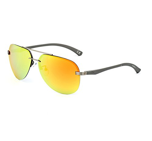 DAWILS Unisex Aviator Stil Polarisierte Sonnenbrille Herren und Damen UV400 Schutz Verspiegelt...