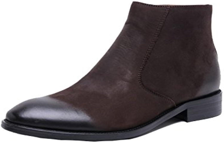 YCGCM Business Stiefel Fuumlr Herren Koreanische Freizeitschuhe Matte Stiefel Mode Komfort Flut weisslese