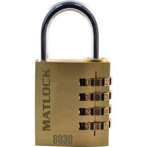 Matlock Cerradura de combinación de latón de 30 mm con código numé