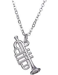 Collar con colgante de instrumento musical y trompeta pequeña para niñas y niños