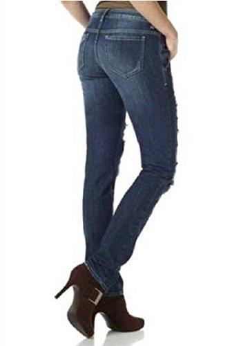 Jeans mit Patches von Laura Scott in Darkblue used Darkblue used
