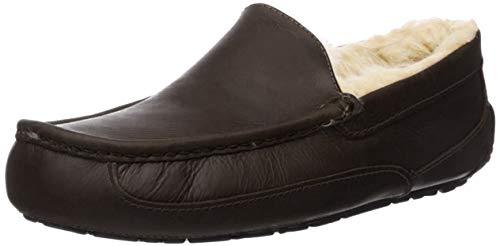 UGG Ascot, Zapatillas de Estar por casa para Hombre, Negro China Tea Ctea, 44 EU