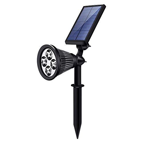 Oisee Solarleuchte für Außen Beleuchtung 1 Stck kaltweiß LED Wasserdicht Solar Strahler für Garten Baum Hinterhof Rasen Baum Hinterhof Wand
