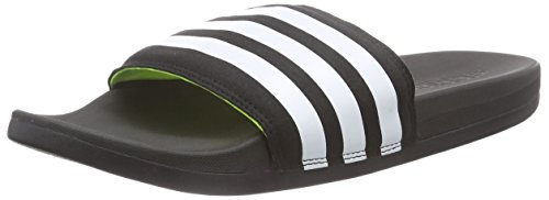 adidas Adilette Supercloud Plus, Herren Slipper, Schwarz (Core Black/Ftwr White/Solar Yellow), 48.5 EU