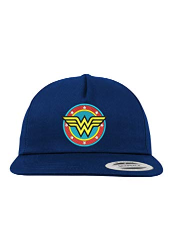 Youth Designz 5-Panel Snapback Cap Modell Wonder Woman, Navyblau, B610