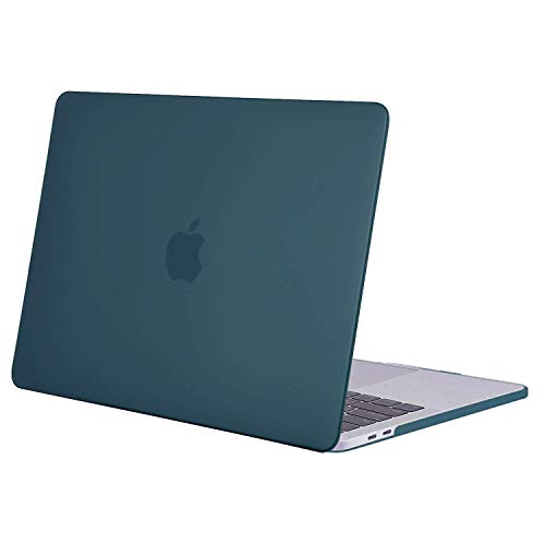 MOSISO Funda Dura Compatible con 2019 2018 2017 2016 MacBook Pro 13 con/sin Touch Bar A2159 A1989 A1706 A1708 USB-C, Ultra Delgado Carcasa Rígida Protector de Plástico Cubierta, Deep Teal