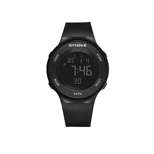 JIUZHOU Fitness LED Digitaluhr Herrenuhr Alarm 50m Wasserdichte Sportuhren