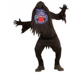 Gorilla Kostüm mit Großer Maske für Jugendliche 146/158 (11-13 Jahre)