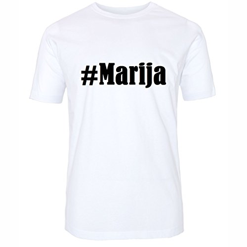 T-Shirt #Marija Hashtag Raute für Damen Herren und Kinder ... in den Farben Schwarz und Weiss Weiß