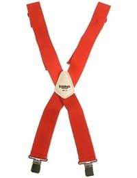 Kunys SP17R Hosenträger, 5 cm breit, Rot