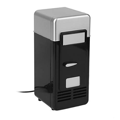 73JohnPol 3 Farbe ABS 194 * 90 * 90mm Energiesparende und Umweltfreundliche 5 V 10 Watt USB Auto Tragbare Mini Getränkekühler Auto Boot Reise Kosmetik Kühlschrank (Farbe: schwarz) (Usb-power-mini-kühlschrank)
