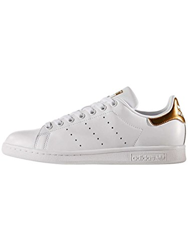 adidas Stan Smith W, Chaussures de Tennis Femme Blanc (Ftwwht/ftwwht/supcol)