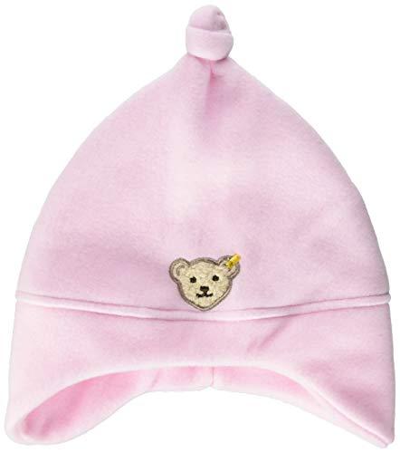 Steiff Unisex - Baby Mütze 0006865, Einfarbig, Rosa (Barely Pink 2560), Small (Herstellergröße: 43)