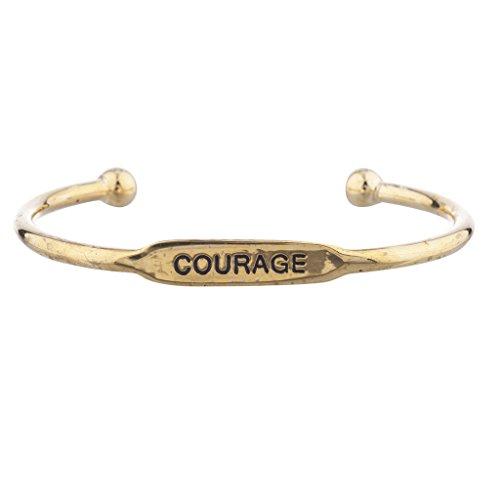 """Lux accessori oro """"coraggio verbosità Inspirational ID Bracciale"""