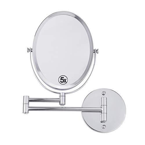 Makeup mirror Espejo para maquillarse Plegable Doble de la Pared del Espejo del Maquillaje 8 Pulgadas...
