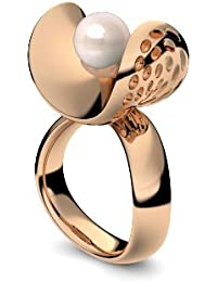 Golfschmuck Golf Schmuck Rosegold Ring Süßwasser Perle rosé 750 + inkl. Luxusetui + Süßwasser Perle rosé Ring Rosegold Perlenring Rosegold (Rosegold 750) - Pearl AM253 RS750PRPE