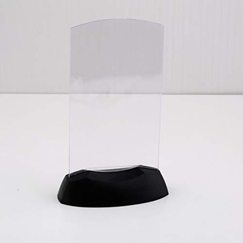 Klare Acryl-tabelle (Dual-Side Acryl Spritzguss Klar Design Halter Stehen LED Licht Tabelle Menü Restaurant Kartenanzeige (zufällige Farbe))