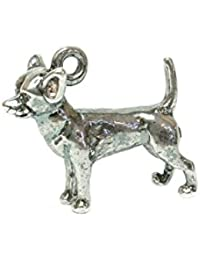 RETRO CHARMS: Vintage Finished Sterling Silver 925 Enamelled Pluto Dog Charm V297 Uq7tyz7