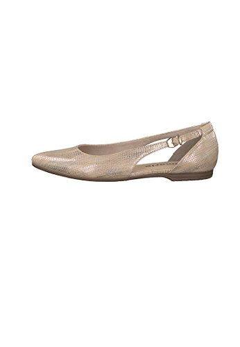 Tamaris 1-1-22125-38/015 Damen Ballerina LT.GOLD STRUC.