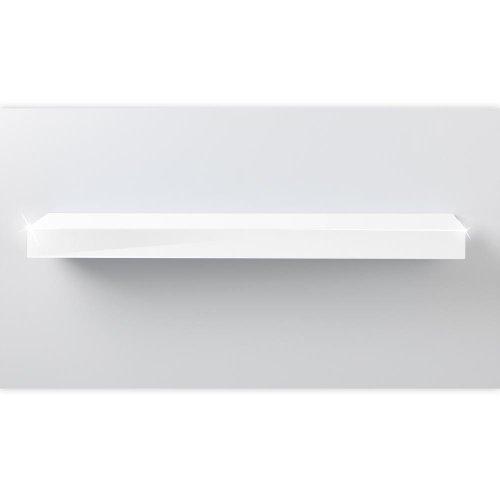 Wandboard, Wandregal, Steckboard, in verschiedenen Farben und Längen, Farbe:hochglanz weiß, Länge:20cm (Schmal Bücherregal 5-regal)