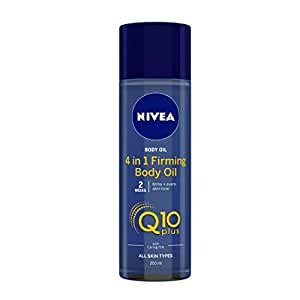 NIVEA Body Oil, Q10 4-in-1 Firming Oil, All Skin Types, 200ml