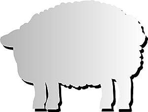 Henbea- Espejo Infantil acrílico Animales Oveja, 65x50cms. (949)