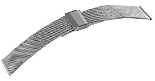 Engelhardt 20mm Edelstahl Milanaise Uhren Armband silberfarbig mit SI- Verschluß