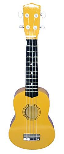 """4-saitige Ukulele-Gitarre 21""""Langes Einsteiger-Musikinstrument für Erwachsene & Kinder (GELB)"""