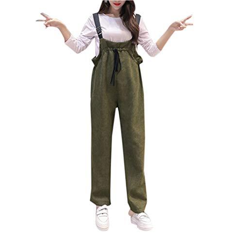 zhbotaolang Abbigliamento Premaman per Donna Pantaloni maternità Bretelle Tuta Salopette Pagliaccetti Cintura Regolabile Retro Sciolto