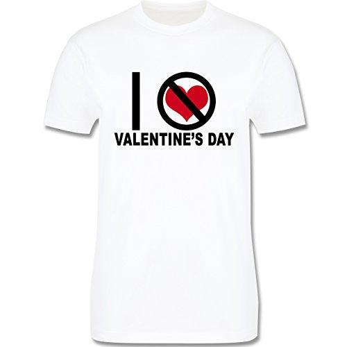 Valentinstag - Anti-Valentinstag I hate Valentine's Day - Herren Premium T-Shirt Weiß